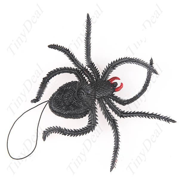 Simba Shock-Your-Friend Realistic Soft Rubber Spider Practical Joke Funny Trick Prank Tool Toy FTY-8322(China (Mainland))