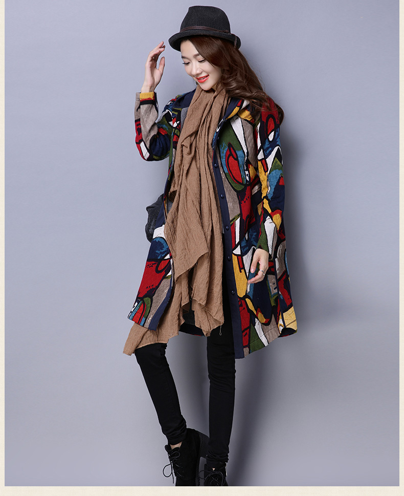 2016 Woman Winter Coats And Jackets newLong Size Loose Cotton Hooded Pure Color Down Coat