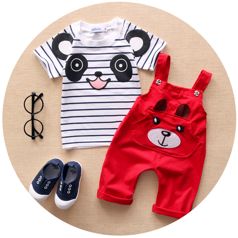 Baby Boy Clothes 2016 New Brand Summer Children Clothing Girls Carter Baby Boy Clothing Babies Clothes for Girl T shirt+Bib Pant(China (Mainland))