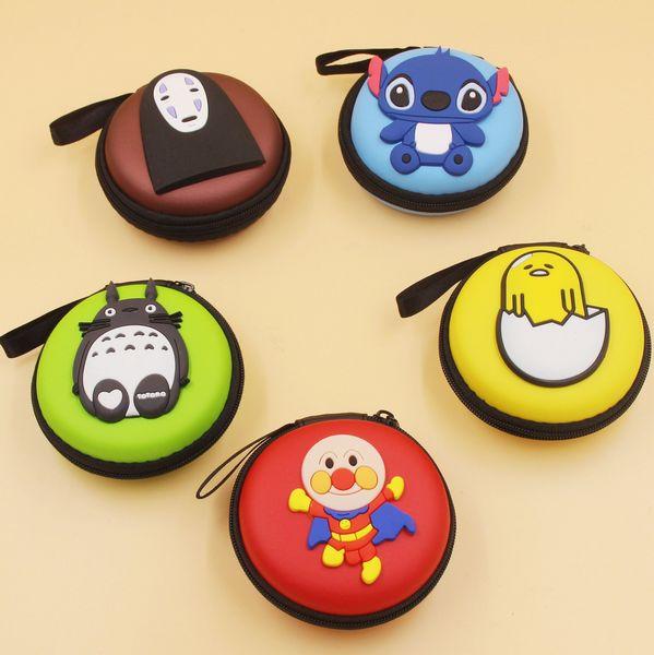 Anpanman Totoro Yolk eggJun Stitch money purse coin bags earphone case hard portable travel font b