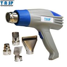 TASP Herramientas Eléctricas Eléctrico 220 V 2000 W Pistola de aire caliente Ajustable de Doble Temperatura Pistola de Aire Caliente con 4 Accesorios