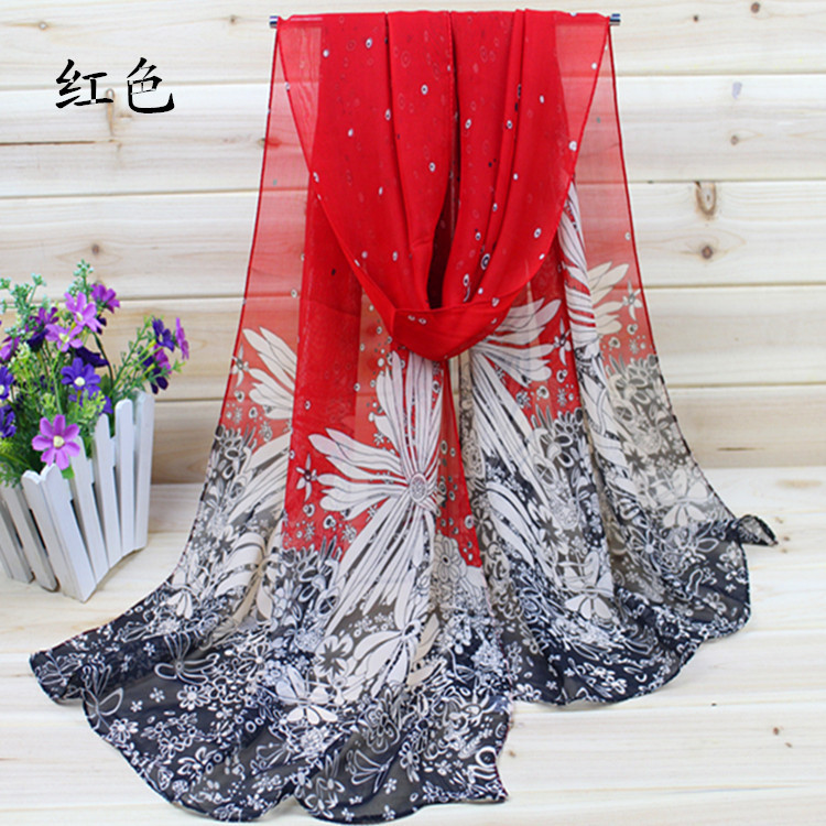 Hot Sale New 2015 Chiffon Silk Scarf For Women Fashion Scarves Female Winter Cachecol 40% silk, 60% polyester(China (Mainland))