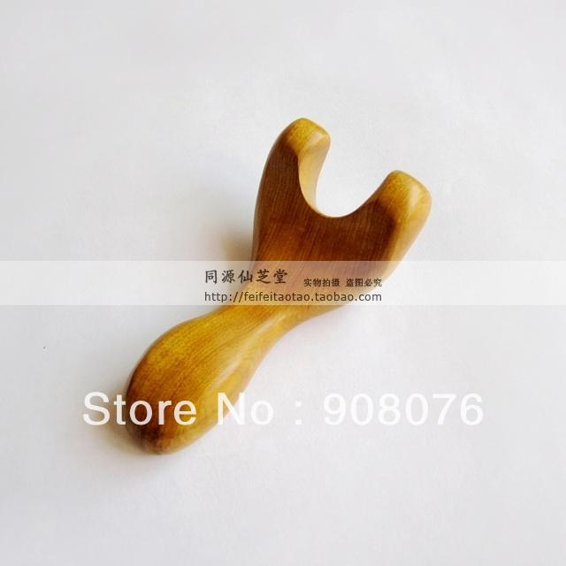 Best selling! Wooden massage device Y shape fork facial massage stick spine relaxation Free shipping(China (Mainland))