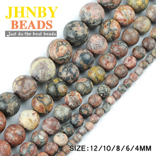 Buy JHNBY Red Leopard Stone beads Natural Stone Top Round Loose beads 4/6/8/10/12MM Jewelry bracelet making accessories DIY Store) for $2.32 in AliExpress store
