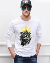 Buy King Lion 3D Printed Men T Shirts 2017 Summer Long Sleeve Mens T-Shirt 100% Cotton Animal Tshirt Brand-Clothing Workout Tops for $7.68 in AliExpress store