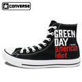 Sneakers Men Women Converse All Star Green Day Heart Shaped Grenade Custom Design Hand Painted Shoes