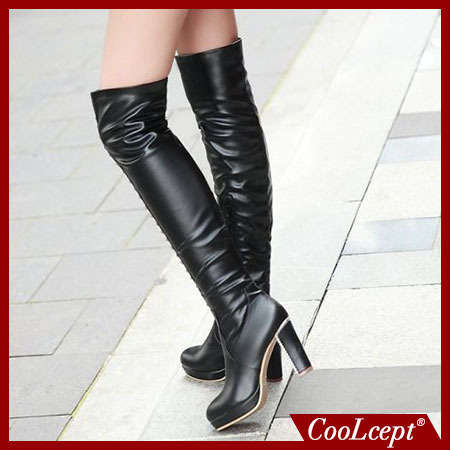 women high heel over knee boots boot fashion snow warm winter botas sexy masculina brand footwear shoes P20274 size 34-39(China (Mainland))