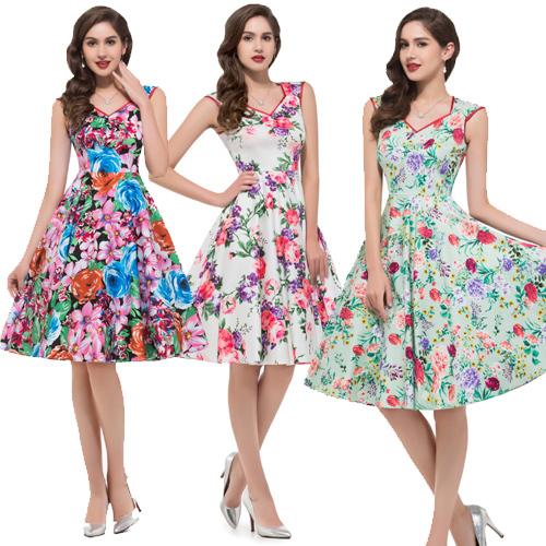 где купить Женское платье Grace Karin 2015 50s 7600 по лучшей цене