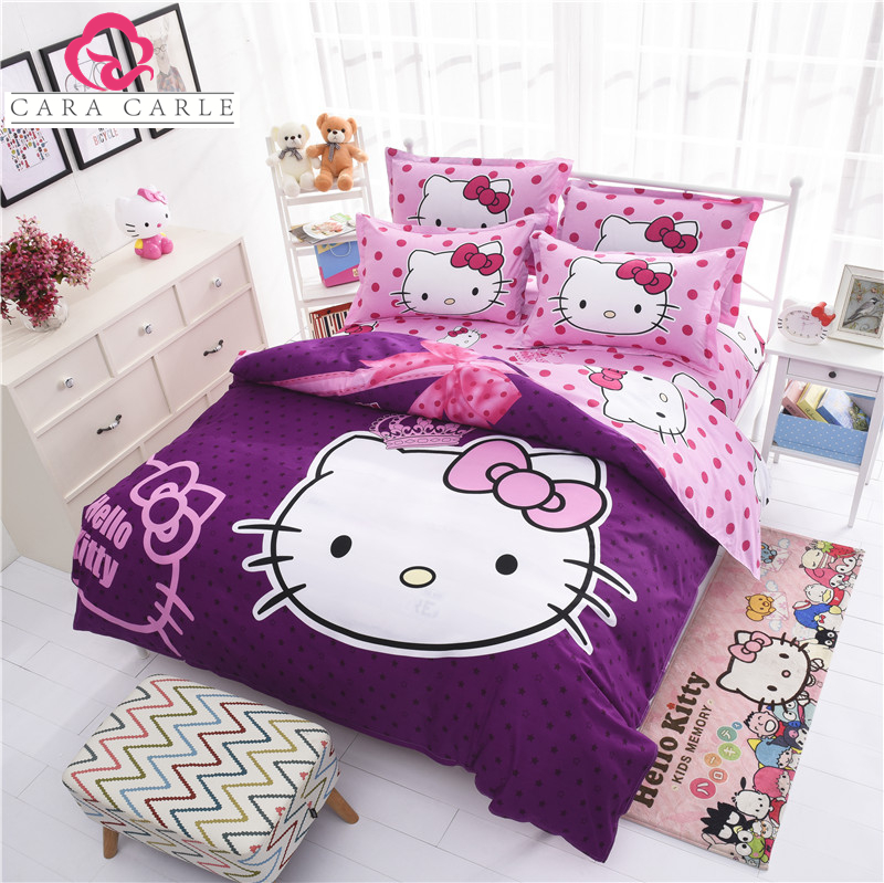 w wholesale hello kitty bed duvet