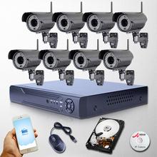 ANRAN 8CH NVR Varifocal 2 8 12mm 1080P Wireless IP Camera CCTV Outdoor 78IR WiFi Security
