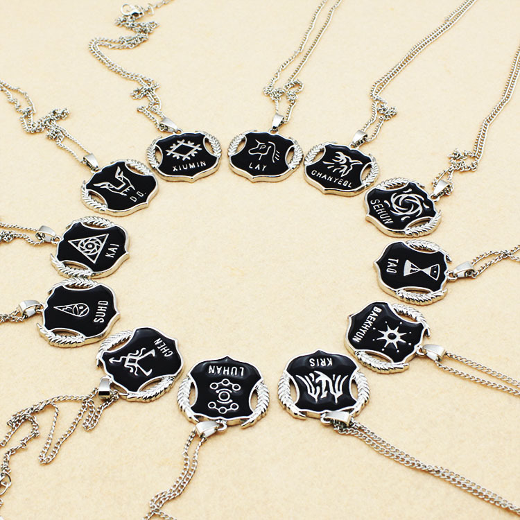 Hot Explosion Models Korean Popular Combination Of LU HAN, KRIS Chen, YEOL, LAY and other 12 members of the EXO Necklace(China (Mainland))