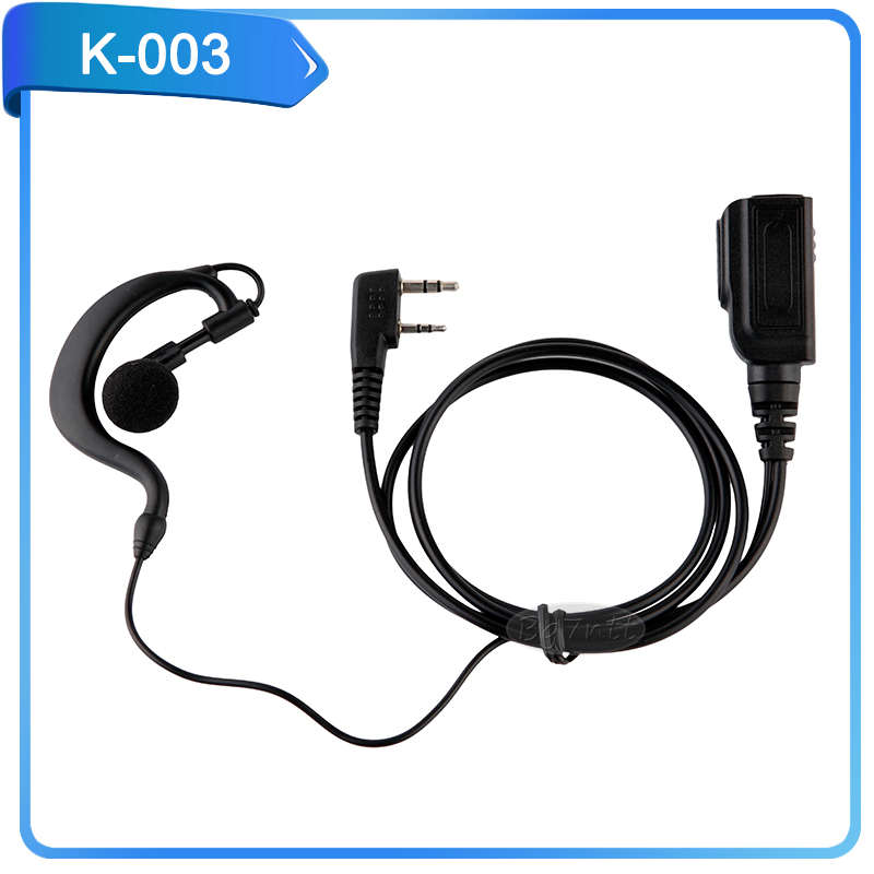 Earpiece / MIC with PTT for baofeng uv-5r Retevis TYT wouxun Kenwood two way Radio ham C2185A K Type Durable Ear hook earphone(China (Mainland))