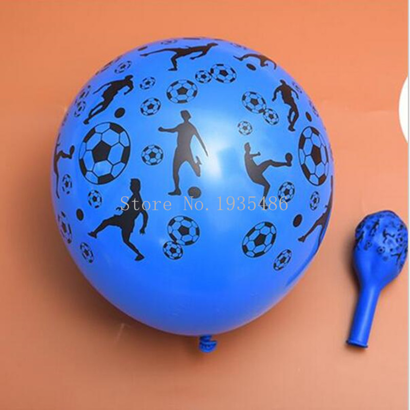 2016 new balloons Multicolor latex Printed Balloon (50 pieces /lot )12'' round playing football Birthday Party or Celebration(China (Mainland))