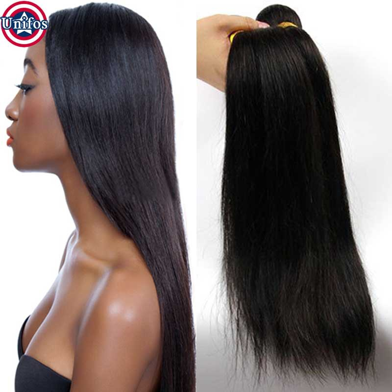 Jet Black Human Hair Weave Unprocessed Virgin Raw Indian Hair Bundles Jet Black Straight Hair Indian Single Bundle Virgin Hair