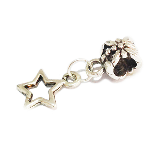 Free Shipping Alloy Bead Charm European Star Silver Bead Fit Women Pandora Bracelets & Bangles B18(China (Mainland))