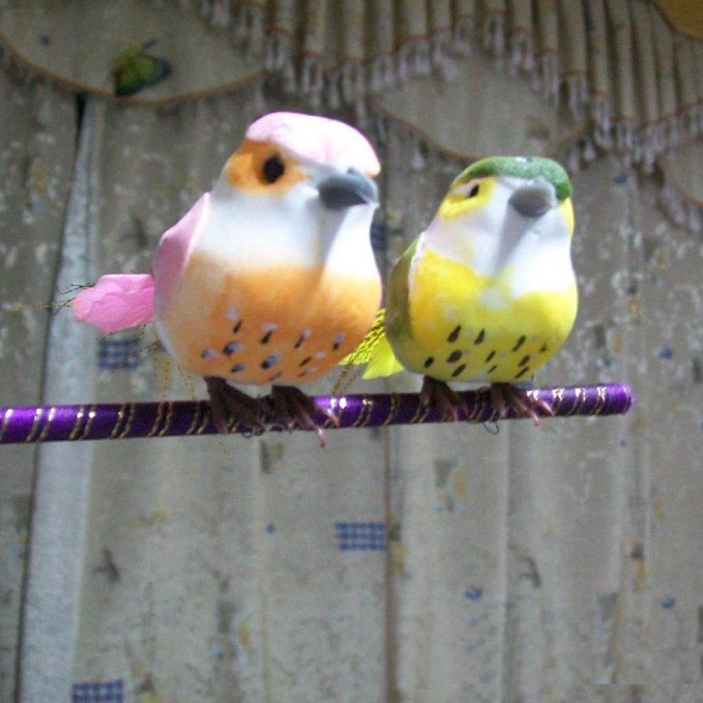 Buy 10 3 5cm multicolor foam feather for Artificial birds for decoration