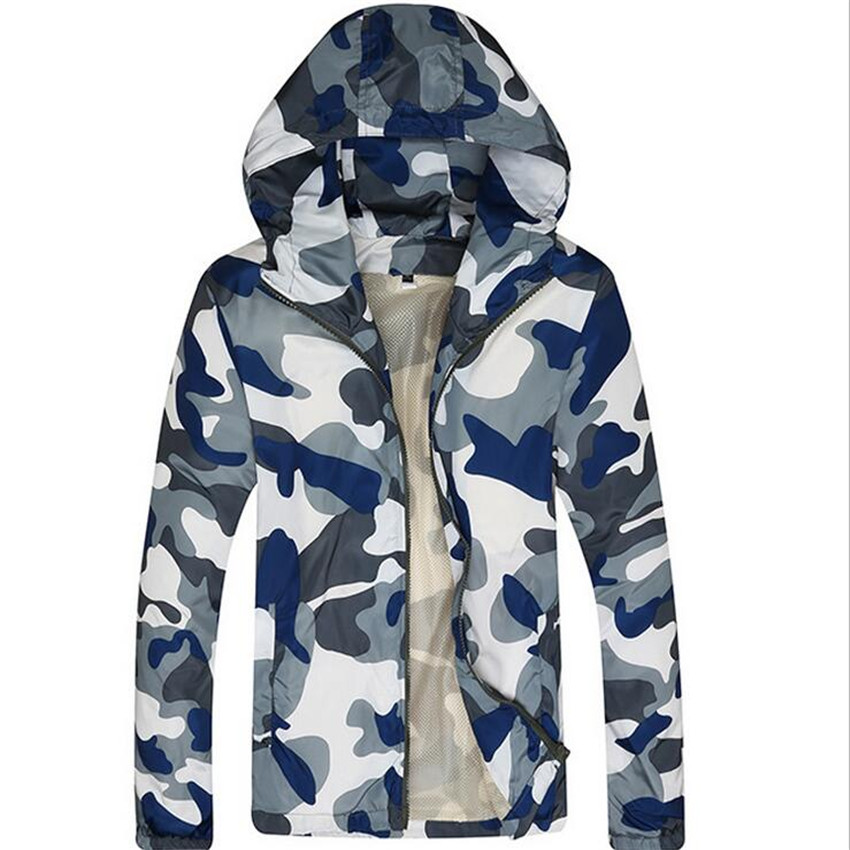 2016 Men's Casual Hooded Camouflage Jacket. Men's Sprint Jacket Military Fans Outdoor Men Camping Mountaineering Jacket(China (Mainland))
