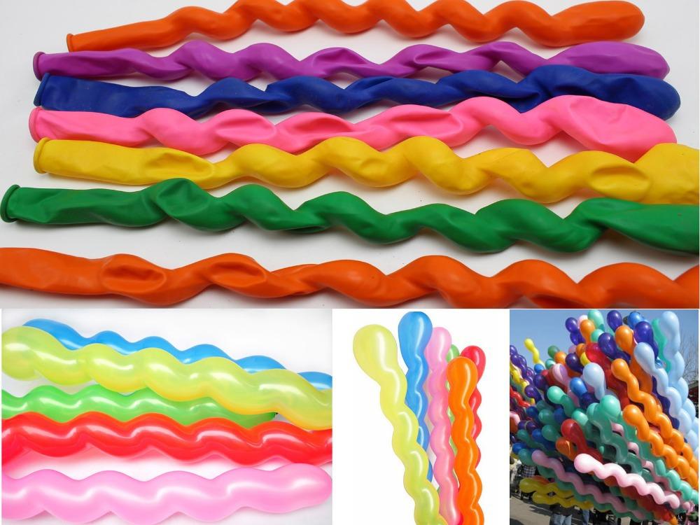 50pcs Mixed Color Spiral Long Latex Balloons Wedding Kids Birthday Party Decor(China (Mainland))