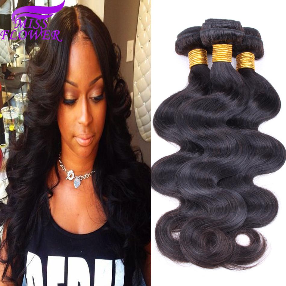 Miss flower hair Good quality 6a grade brazilian virgin hair body wave unprocessed brazilian virgin hair brazilian body wave<br><br>Aliexpress