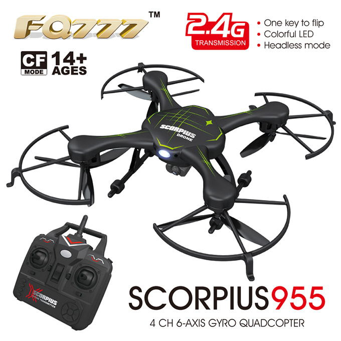 FQ777 955C RC Quadcopter RTF 2.OMP HD Camera 2.4G 6Axis One Key to Flip headless model CF Mode LED Shatterproof RC helicopter<br><br>Aliexpress