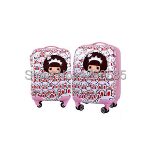2014 new arrival kids luggage for children best trolley high quality trolley travel bag Free Shipping wholesale price 18 20 inch(China (Mainland))