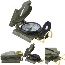 Buy Military Prismatic Sighting Compass Multi-Function Metal Folding Compasses Ruler Magnifier Outdoor Pointing Guide for $2.69 in AliExpress store
