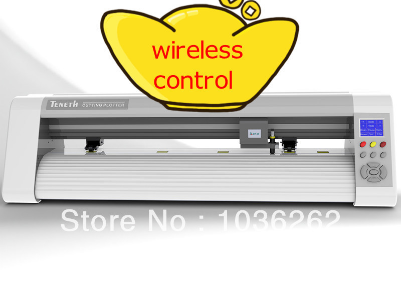 24 inch Wireless Control red dot cutting plotter TS24WXL , USB Servo Motor car sticker cutter plotter vinyl cutter with contour(China (Mainland))