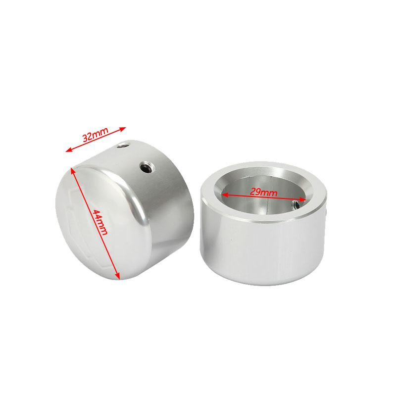 A Pair Die-Cast CNC Aluminum Front Axle Nut Covers Allen Wrench For Harley Softail Electra Street Road Glide Road King Sportster(China (Mainland))