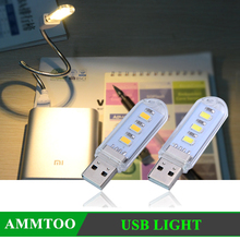 Mini USB LED Reading Light Book Camping Hiking Outdoor PC Laptop Computer Notebook Mobile Power Charger Reading Bulb Night light(China (Mainland))