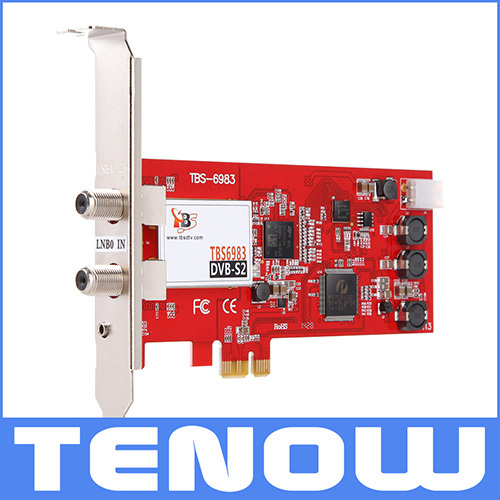 TBS Card TBS6983 Professional Level Digital Satellite TV Tuner PCIe Dual Tuner Card Supports CCM, ACM, VCM, Multi Input Stream(China (Mainland))