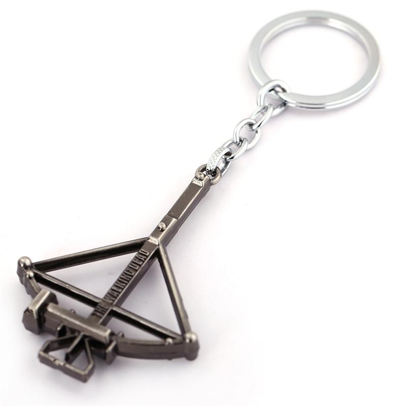 Nouvelle Arrivée Bronze The Walking Dead Porte,clés Arbalète Alliage Clé Anneau Support Pour Voiture