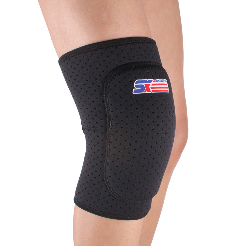 Breathable Sports Safety Knee Supports Brace Wrap Elastic Knee Pads Support Durable Knee Protector Guard Pads Black(China (Mainland))