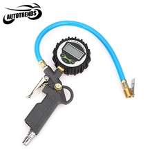 Digital Car Truck Air Tire Pressure Inflator Gauge LCD Display Dial Meter Vehicle Tester Tyre Inflation Gun Monitoring Tool(China (Mainland))