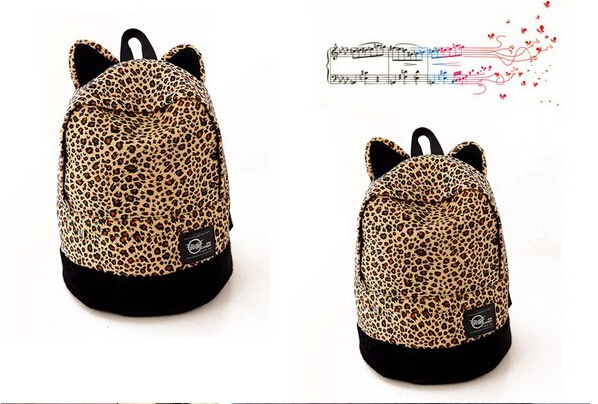 school backpack 2015 School Bags leopard fashion casual shoulder woman bag Orecchiette backpack women backpack casual daypack(China (Mainland))