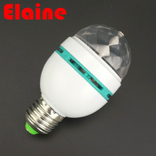 2016 E27 3W 110v-220v Colorful Auto Rotating RGB projector Crystal led Stage Light Magic Ball DJ party disco effect Bulb Lamp(China (Mainland))