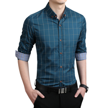 Buy Plaid Men Shirts Tailoring Slim Fit M-5XL 100% Cotton Mens Dress Shirts Male Clothes Social Casual Shirt Men Brand Chemise Homme for $9.87 in AliExpress store