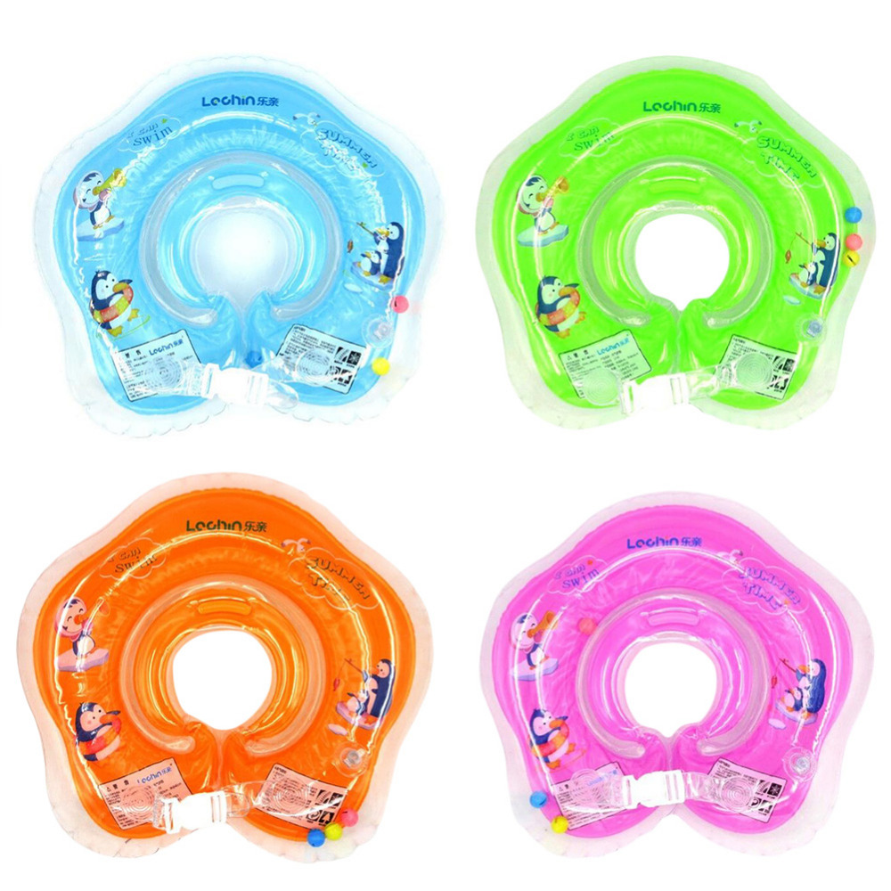 2016 Inflatable Circle New Born Infant Adjustable Swimming Neck Baby Swim Ring Float Ring Safety Double Protection MY18(China (Mainland))