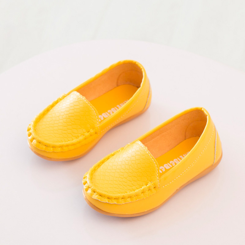 Brand New Size 21-30 Children Shoes Kids PU Leather Sneakers For Boys And Girls Boat Shoes Slip On Soft Sole Casual Flats(China (Mainland))