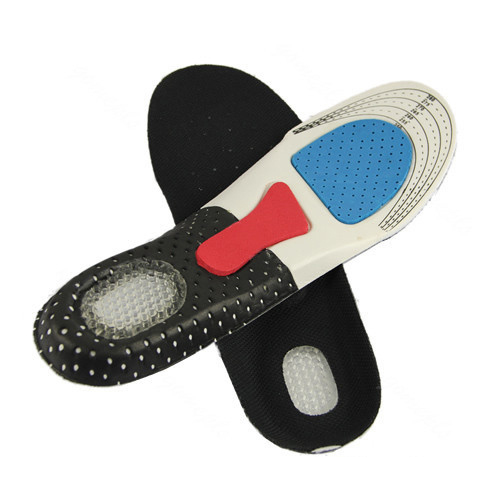 High Quality Unisex Arch Support Shoe Pad Sport Running Gel thick soft cushioning Insoles foot care cellular deodorant hole(China (Mainland))