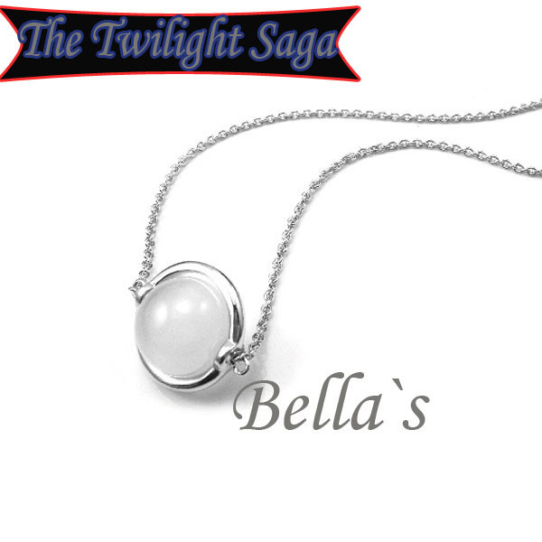 2014 Movie Twilight new moon free shipping 18KGP high quality Fashion Bella moon stone pendant Chain