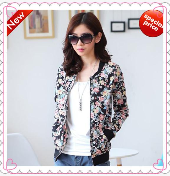 casual womens tops fashion 2014 women coat and jackets winter loose printed sweatshirt long sleeve cardigan plus size XXXL woman(China (Mainland))