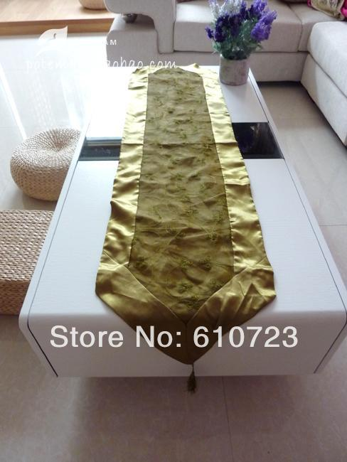 whole sale, export European luxuriant Green fringed embroidery Tablecloth table flag tablecloth,table runner(China (Mainland))