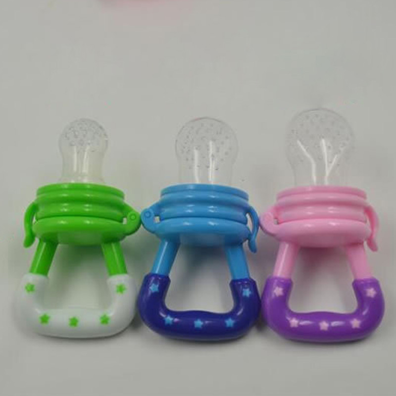 Top Quality Baby Pacifier Clip Feeding Dummies Soother Nipples Soft Feeding Tool Fruit Bags Mesh Bags Vegetables Food
