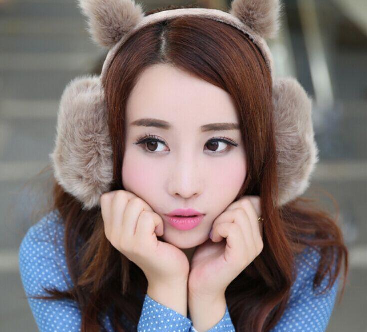 Lovely Girl Rabbit Ear Fur Earmuffs Winter Anti-cracking Keep Warm Earmuffs Cute Rabbit Ear Hairy Ears Cover Fur Fur headphones(China (Mainland))