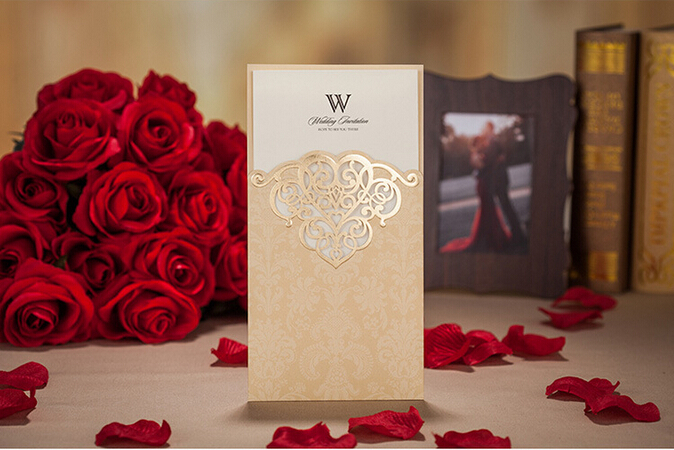 Online Get Cheap Red Gold Wedding Invitations Aliexpress – Cheap Red Wedding Invitations