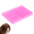 10pcs set Pink Resin Plastic Hair Rollers Corrugated Folder Hair Maker for Hair Root Chips Hair