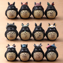 Free Shipping 12pcs/1set 6cm Anime Movie My Neighbor TOTORO Figures For Twelve constellations Totoro Fans action figure