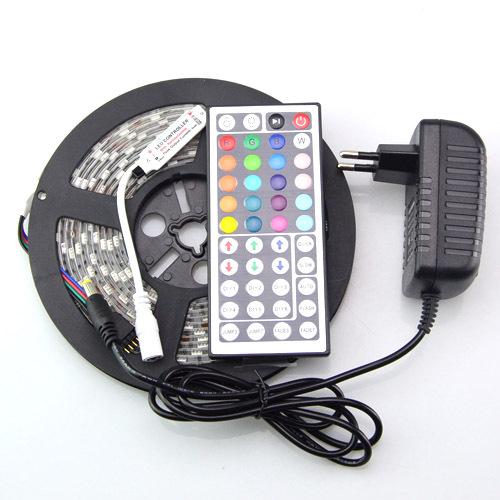 1Pcs 5m 300Leds DC12V SMD5050 IP65 Waterproof RGB Led Strip Light + 1Pcs 44Key RF Controller + 1Pcs DC12V 3A 36W Power Adapter(China (Mainland))