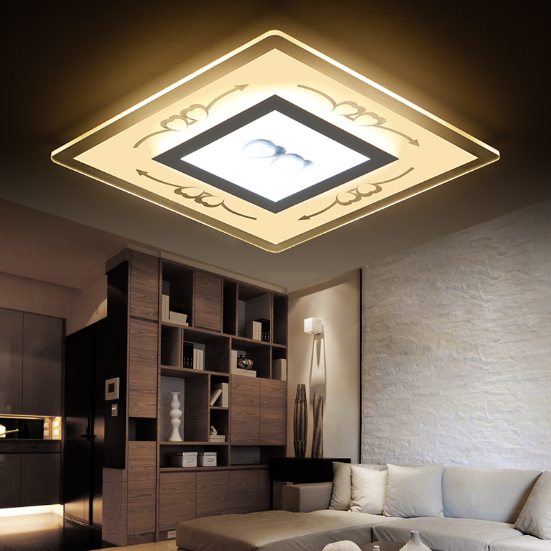 flush mount acrylic ceiling lights bedroom lamp home led lighting fixtures luminarias deckenlampe plafondlamp living room light(China (Mainland))