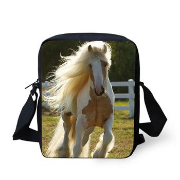 3D animal priting women's messenger bags horse tiger dog owl crossbody bag for women small shoulder bag ladies bolsa feminina